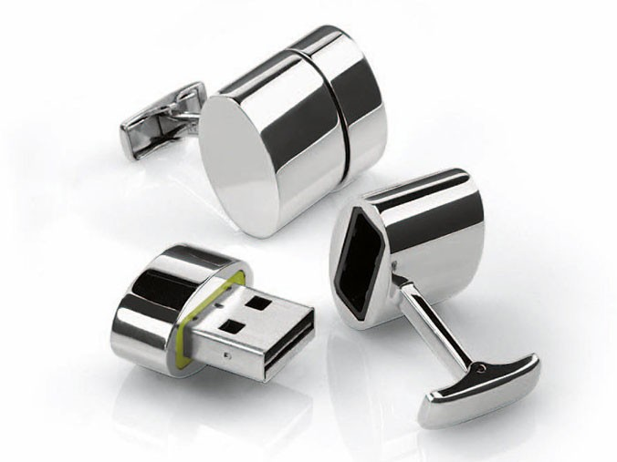 Brookstone USB-Manschettenknöpfe