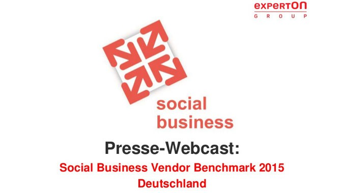 Experton Social Business Vendor Benchmark 2015